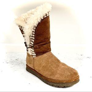 SPORTO Iris Waterproof Leather Faux Fur Boots -Sz8